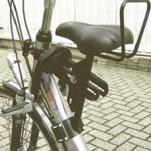 Kinderzadel met buisbevestiging op damesfiets (oversized), model 4